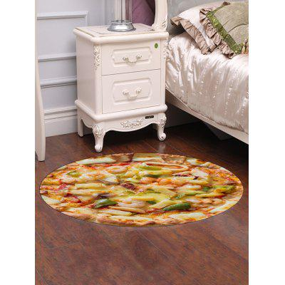 Shrimp Pizza Tortilla Printed Round Floor Mat