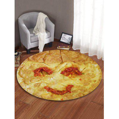 Smile Fried Egg Printed Round Floor Mat