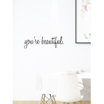 You Are Beautiful Print Removable Wall Art Stickers