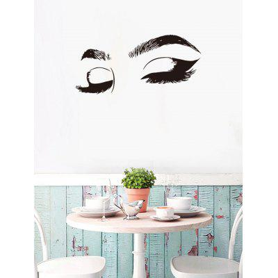 Eyelashes and Eyebrows Print Removable Wall Art Stickers