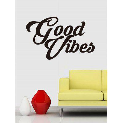 Good Vibes Print Removable Wall Art Stickers