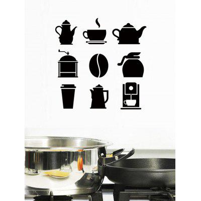 Coffee kitchenware Print Removable Wall Art Stickers
