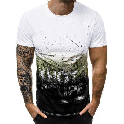 Letter Graphic Ombre T Shirt