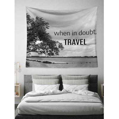 Letter Printed Design Wall Tapestry