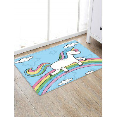 Home Decoration Unicorn Rainbow Anti-Slip Rug