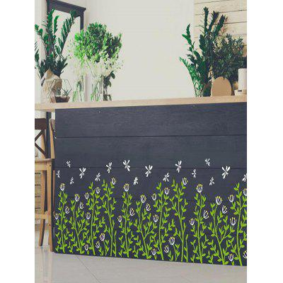 Dragonfly Floral Plants Pattern Wall Stickers