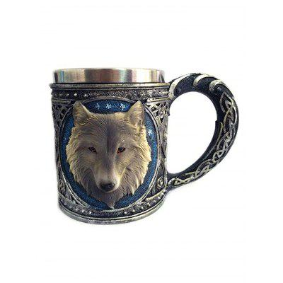 3D Wolf Head Shaped Mug