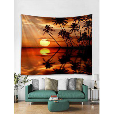 Sunset Seaside Tree Stampa Tapestry Wall Hanging Decorazione di arte