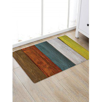 Colorful Wood Grain Patterned Water Absorption Area Rug