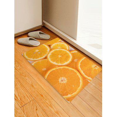 Orange 3D Print Flannel Area Rug