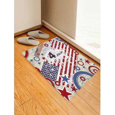American Flag July Fourth Decoration Floor Mat
