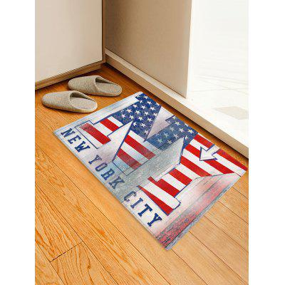 American Flag City Printed Decoration Floor Mat
