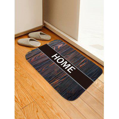 Wood Grain HOME Pattern Water Absorption Flannel Area Rug