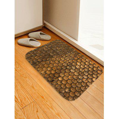 3D Wood Grain Fish Scale Bath Rug