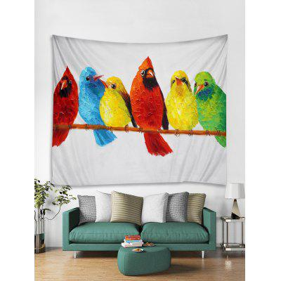 Colorful Birds Printing Print Tapestry Wall Hanging Art Decoration