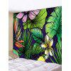 Flowers and Leaves Print Tapestry Wall Hanging Art Decoration - MULTI