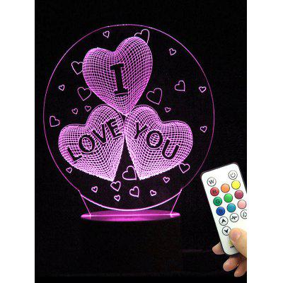 I Love You Heart Shape Color Changing LED Night Light