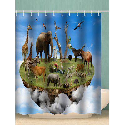Animal Paradise Stampa Decorative Shower Curtain