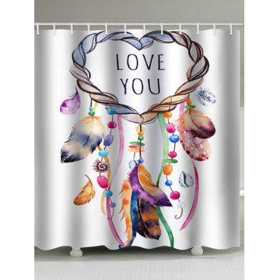 Love You Dream Catcher Stampa Impermeabile Bagno Doccia Cortina