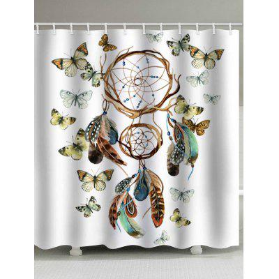 Dream Catcher and Butterfly Print Waterproof Bathroom Shower Curtain