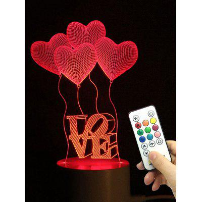 Heart Balloon Love Shape Cambia colore LED Night Light