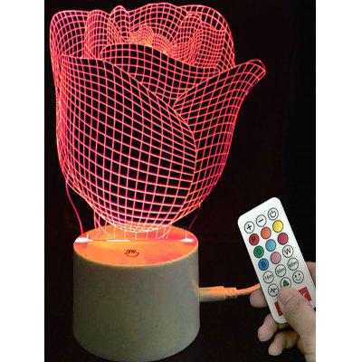 Valentine Rose Shape Color Changing LED Night Light