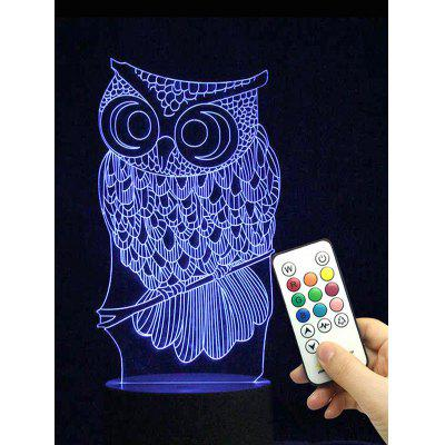 Owl Shape Color Changing LED Night Light