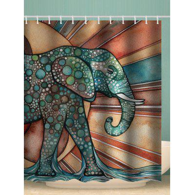 Abstract Elephant Pattern Waterproof Shower Curtain