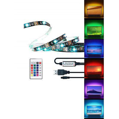 USB RGB Strip Light with Remote Control for TV Computer Background Lighting