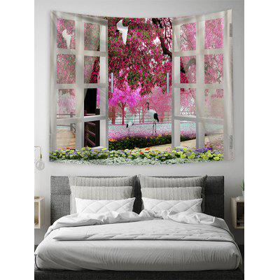 Natural Floral Print Art Decoration Wall Tapestry
