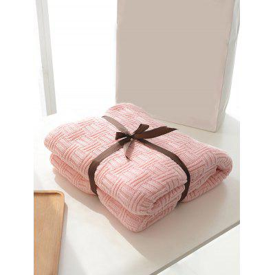 Solid Color Decoration Knitted Blanket