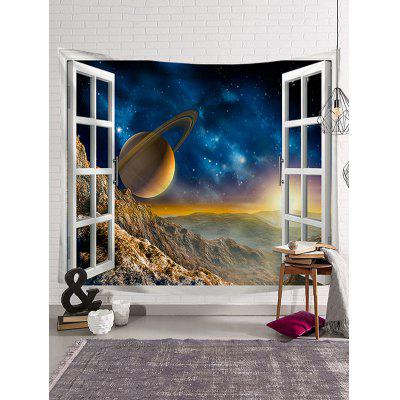 Planet Star Sky Print Art Decoration Wall Tapestry