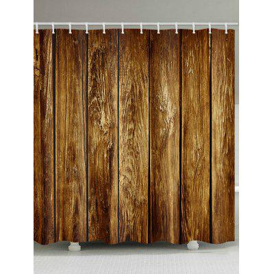 Vintage Wood Board Print Shower Curtain