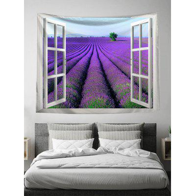 Window Violet Wall Art Tapestry