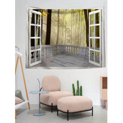 Window Scenic Print Wall Tapestry