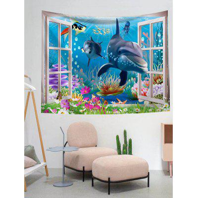 Dolphin Pattern Design Wall Tapestry