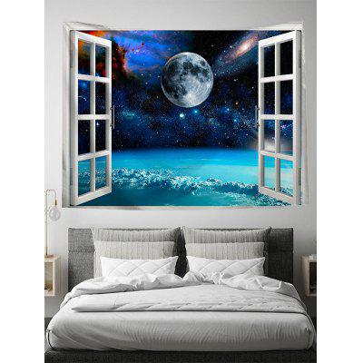 Window Planet Print Art Decoration Wall Tapestry