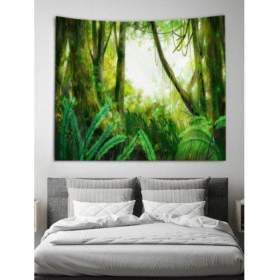 Forest Print Design Wall Tapestry