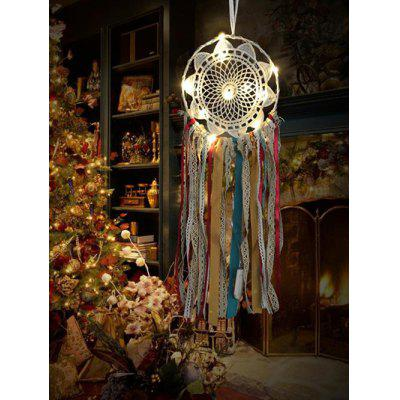 Handmade Colorful LED Light Lace Dream Catcher