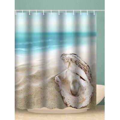 Faux Pearl Seashell Pattern Shower Curtain
