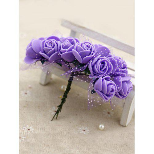 AM/_ FM 50 Pcs PE Foam Artificial Rose Heads Fake Flower Wedding Party Decoratio
