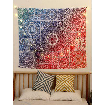 Bohemian Style Ombre Print Wall Tapestry