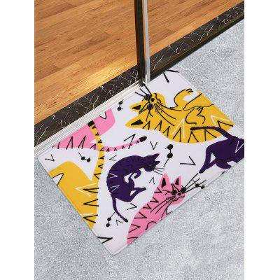 Cartoon Cat Patterned Water Absorption Area Rug