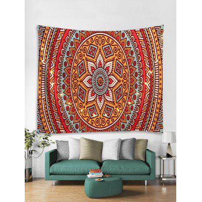 Bohemian Pattern Tapestry Wall Hanging with LED String Lights