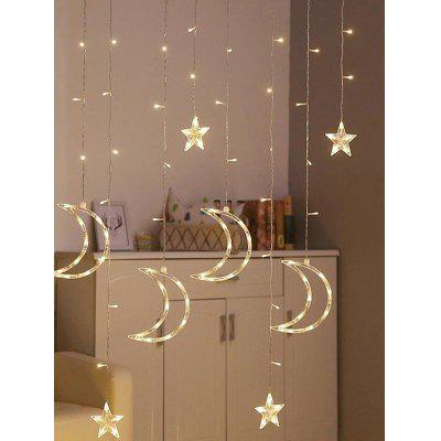 3.5 Meters 2W Waterproof Moon and Stars Decorative String Lights