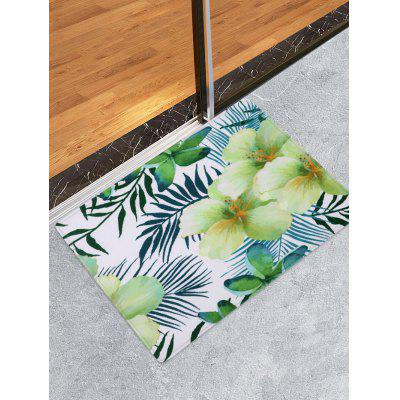 Flower and Leaf Pattern Water Absorption Area Rug