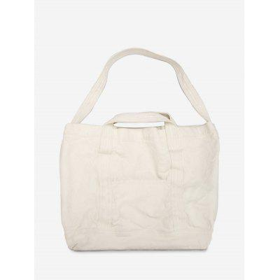 Solid Large Capacity Canvas Shoulder Bag