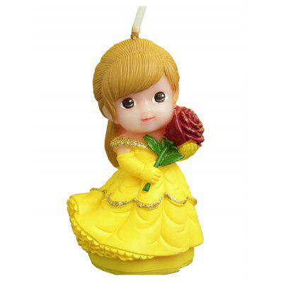 Cartoon Rose Flower Princess Girl Shape Candle