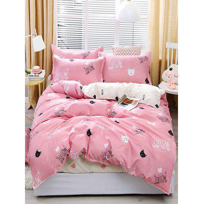 Cat Print 4PCS Bedding Set