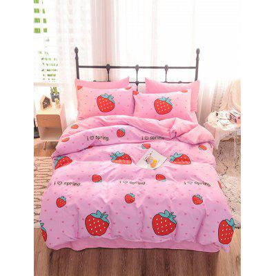 Strawberry Print 4PCS Bedding Set